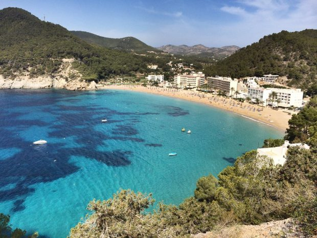 Cala San Vicente close to Tanits Cave in the North East of Ibiza