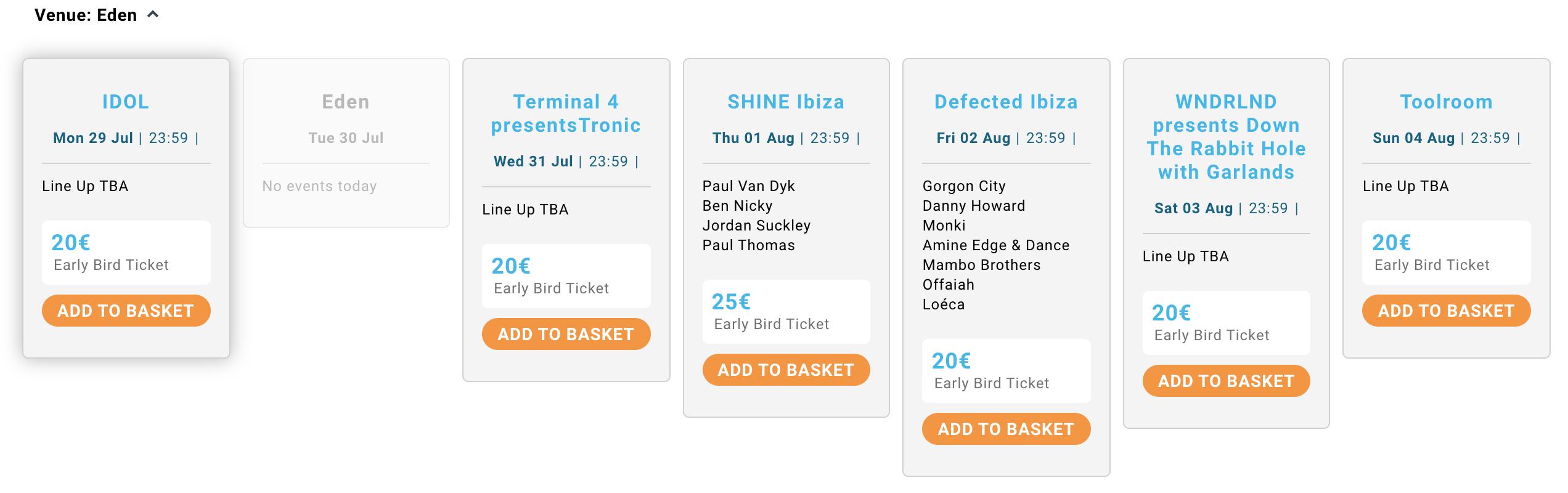 Eden Ibiza early bird ticket prices 2019