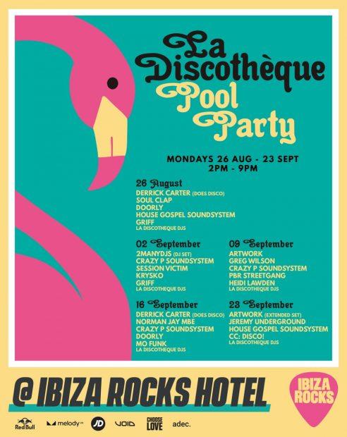 La Discothèque Ibiza Rocks Hotel Line Ups