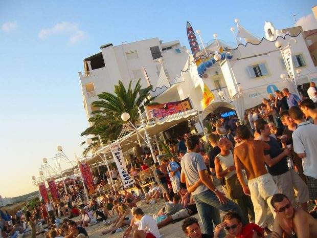 The early events of Radio 1 at Cafe Mambo Ibiza