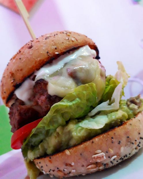 The Kick Ibiza burger I mean how good does that look.