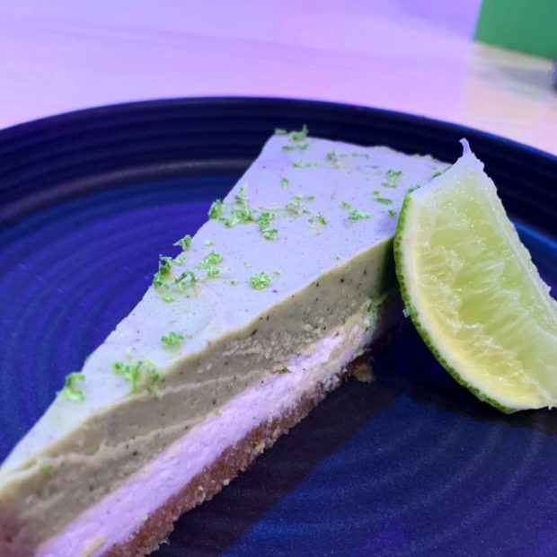 Kick Ibiza caters for all diets this being their vegan key lime pie