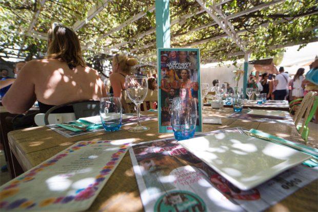 The main restaurant at Las Dalias Ibiza