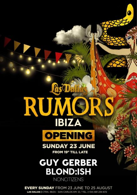 Rumours at Las Dalias Ibiza This summer