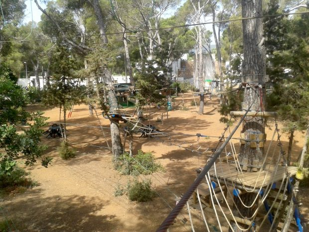 Push your limits at the Acrobosc Ibiza Woodland Adventure Park