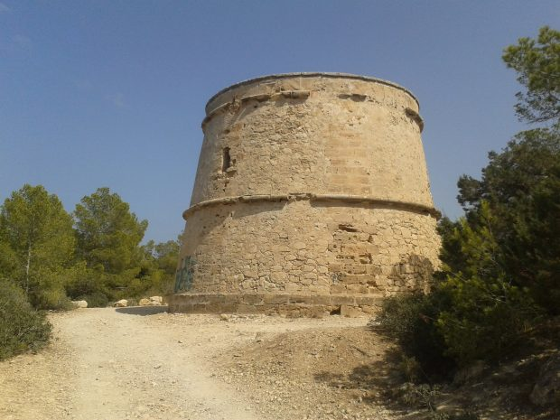 The watchtower Torre de Portinatx Ibiza