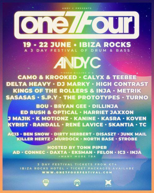 One7Four Ibiza Rocks 2020 Line up