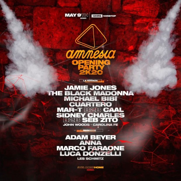 Amnesia Opening Party 2020 line up