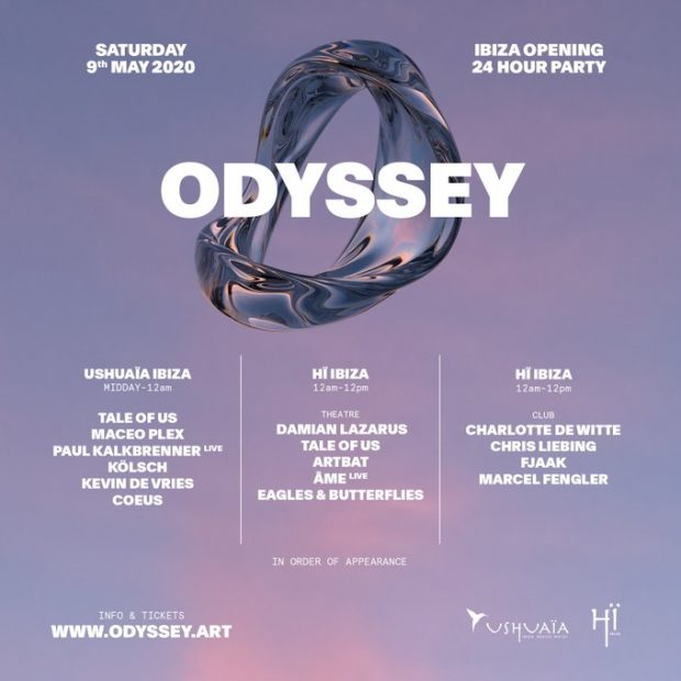 Hï Ibiza Opening Party - Odyssey Line Up 2020