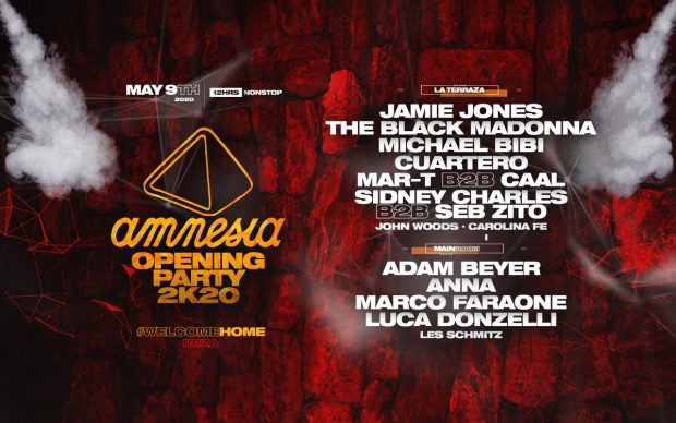 Amnesia Ibiza 2020 Opening Party Line Up