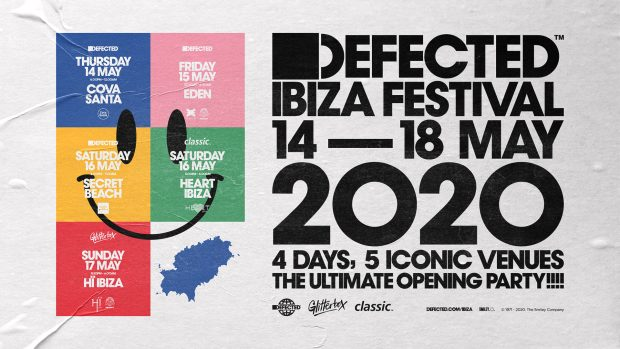Defected first Ibiza Festival 14th - 18th May 2020