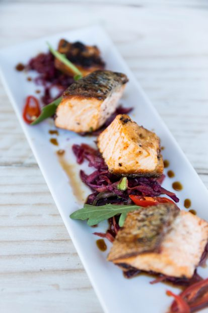Tapas Restaurant and Lounge Bars Miso Salmon recipe by chef Glyn Caldecott.